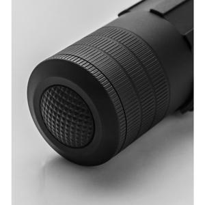 LensLight Mini Black Ti Dual-Output Flashlight w/ Ti Tailstand & Smooth Bezel