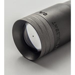 LensLight KO Black Dual-Output Flashlight w/ Ti Tailstand & Smooth Bezel (2x123)
