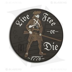 Maxpedition Live Free Or Die PVC Patch (Arid) LFODA