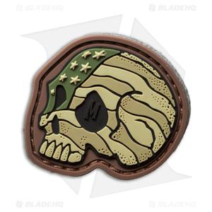 "Maxpedition 1.6"" x 1.5"" Stars and Stripes Skull PVC Patch (Arid)"