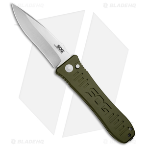 "SOG Knives Spec Elite II Large Automatic Knife OD Green (4"" Satin) SE-61OD"