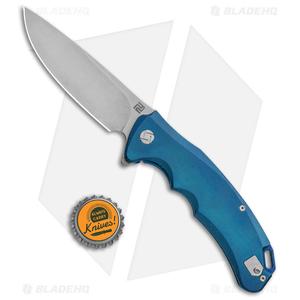 "Artisan Cutlery Tradition Frame Lock Knife Blue Titanium (3.8"" Stonewash)"