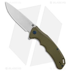 "Artisan Cutlery Tradition Liner Lock Knife Green G-10 (3.8"" Stonewash)"