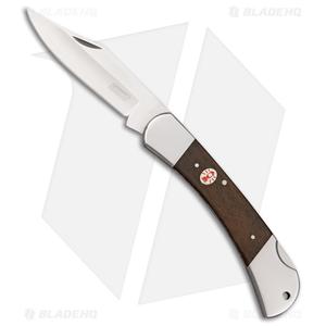 "Coleman Forester II Backlock Knife Brown Wood (3.3"" Satin)"