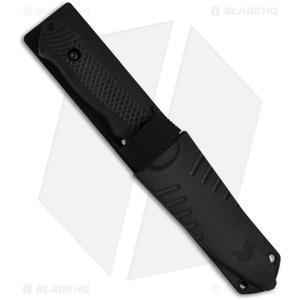 "Benchmade Nim Cub II Knife 147SBK Drop Point Fixed Blade (3.5"" Black Serr)"