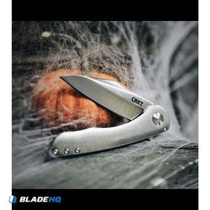 "CRKT Jettison Frame Lock Flipper Knife (3.25"" Stonewash) 6130"