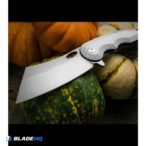 "VDK War Admiral Cleaver Frame Lock Knife Titanium (4"" Stonewash)"
