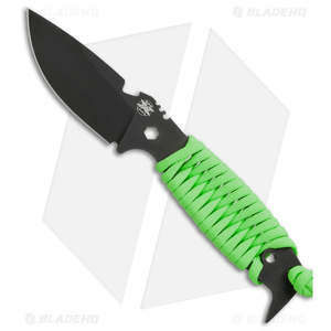 "DPx H.E.S.T II Assault Survival Knife Neon Green Paracord Wrap (3.15"" Black)"