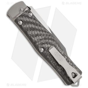"Microtech OSS Cobra Bowie Knife Auto Carbon Fiber (3.75"" Satin Plain) 137-4"