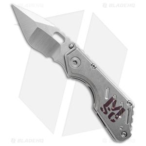 "Mick Strider Custom Stub  Compound Tanto Knife Skull Ano (3.25"" Satin/SW) MSC"