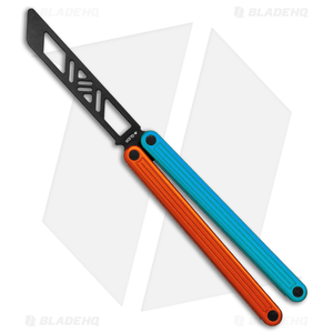 """Glidr Arctic Butterfly Trainer Knife Fire & Ice (4.25"""" Black)"""