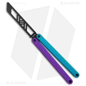 "Glidr Arctic Butterfly Trainer Knife Blurple (4.25"" Black)"