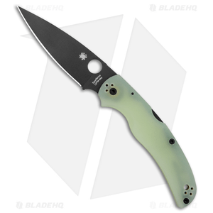"Spyderco Native Chief M4 Exclusive Lockback Knife Natural G-10 (4.08"" Black)"
