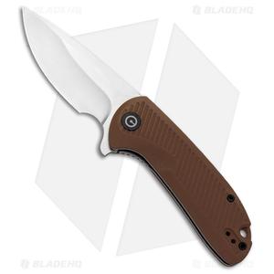 "CIVIVI Durus Liner Lock Knife Brown G-10 (3"" Satin) C906B"