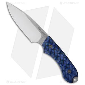 Bradford Knives Guardian4 Knife Black/Blue G-10 (False Edge/N690/Satin)