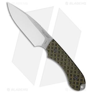Bradford Knives Guardian4 Knife Black/OD Green G-10 (False Edge/N690/Satin)