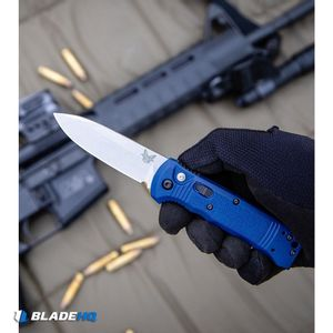 """Benchmade 4400-1 Casbah Automatic Knife Blue Grivory (3.4"""" Satin)"""
