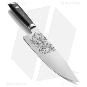 "Mattia Borrani Production 8"" Bowie Chef Kitchen Knife (Satin) Koi"