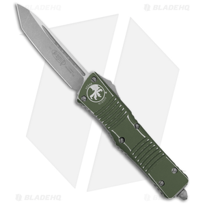 """Microtech Combat Troodon Tanto OTF Automatic Distressed OD Green (4"""" Apoc)"""