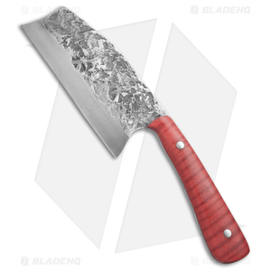 "Keith Bagley Custom Hunter Cleaver Fixed Blade Tiger Maple (5.25"" Satin)"