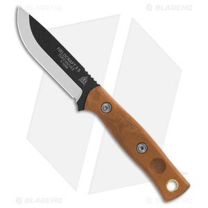 "TOPS Knives Mini BOB Brothers of Bushcraft Fieldcraft Knife Mic (3.7"" Black)"