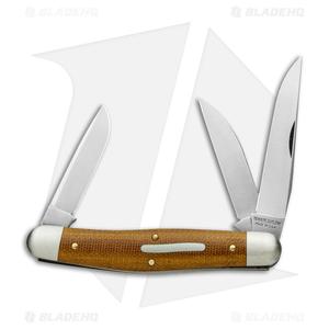 "GEC #82 Tidioute Cutlery Dixie Stockman Pocket Knife 4.1"" Nat Micarta  828318"
