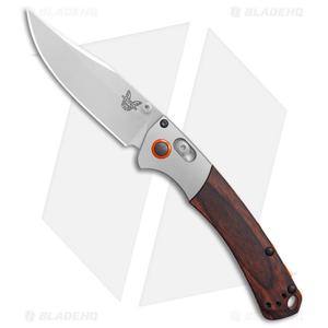 "Benchmade Mini Crooked River AXIS Lock Knife Dymondwood (3.4"" Satin) 15085-2"
