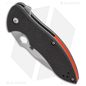 "Spyderco Rubicon 2 Liner Lock Knife Carbon Fiber/G-10 (3"" Satin) C187CFP2"