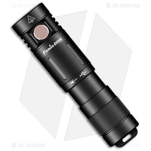 Fenix E09R Black Flashlight Black Aluminum (600 Lumens)