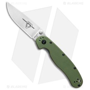 "Ontario RAT Model 2 Liner Lock Knife OD Green (3"" Satin D2) 8828OD"
