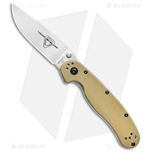 """Ontario RAT Model 2 Liner Lock Knife Desert Tan (3"""" Satin D2) 8828DT"""