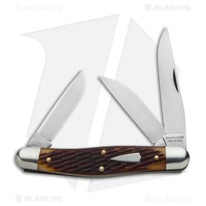 """GEC #82 Tidioute Cutlery Stockman Pocket Knife 4.1"""" Copperhead Jig Bone  828318"""
