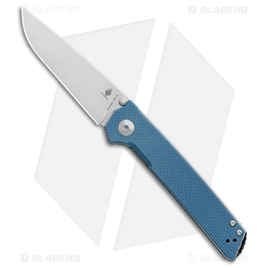 "Kizer Vanguard Series Domin Liner Lock Knife Blue G-10 (3.5"" Stonewash) V4516A3"