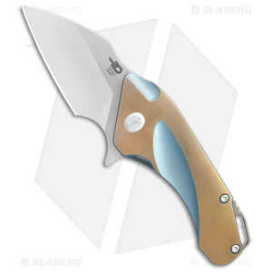 "Bestech Knives Goblin Frame Lock Knife Bronze/Blue Titanium (2"" Satin) 1711B"