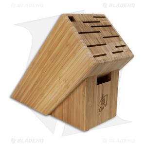 Shun 11-Slot Angled Bamboo Kitchen Block - DM0831