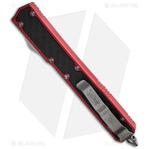 "Microtech Makora II D/A OTF Automatic Knife Red (4.45"" Black Serr) 106-2RD"