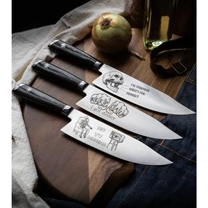 "Mattia Borrani Production 8"" Bowie Chef Kitchen Knife (Damascus) I'm Starving"