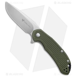 """Steel Will Knives Cutjack Flipper Knife OD Green FRN (3.5"""" Satin) C22-1OD"""