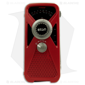 Eton FRX2 Hand Turbine AM/FM/Weather Radio w/ USB Charger, Light (Red) NFRX2WXR