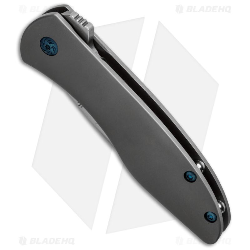 Kizer-Vagnino-Velox-2-Flipper-Knife-Titanium--3.375--Stonewash--Ki4478