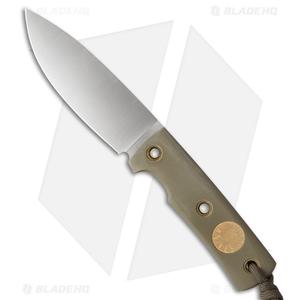 "Wallace Edged Tools OS II Fixed Blade Knife Sage Green G-10 (4.5"" Satin)"
