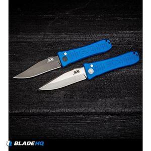 "SOG Knives Spec Elite I Automatic Knife Blue (3.5"" Satin) SE-51BU"