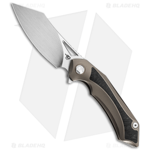 "Bestech Knives Kasta Frame Lock Knife Bronze Ti (3.5"" Satin M390)"