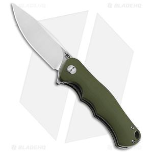 "Bestech Knives Bobcat Liner Lock Knife Green G-10 (3.125"" Satin D2)"