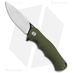 "Bestech Knives Bobcat Liner Lock Knife Green G-10 (3.125"" Two Tone D2)"