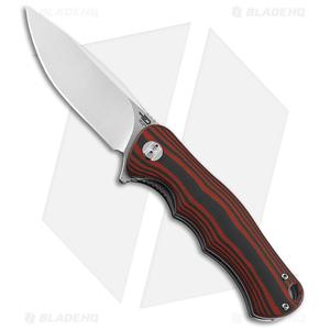 "Bestech Knives Bobcat Liner Lock Knife Black/Red G-10 (3.125"" Satin D2)"