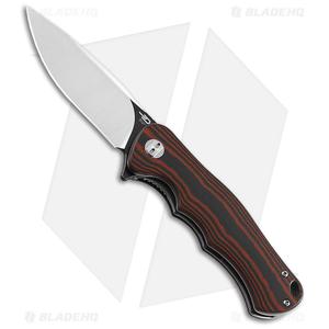 "Bestech Knives Bobcat Liner Lock Knife Black/Red G-10 (3.125"" Two-Tone D2)"