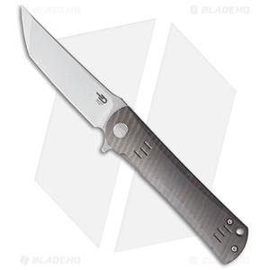 "Bestech Knives Kendo Tanto Frame Lock Knife Flamed Titanium (3.75"" Stonewash)"