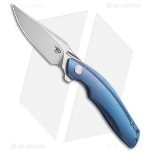 "Bestech Knives Ghost Frame Lock Knife Blue Titanium (3.6"" Stonewash) BT1905B"