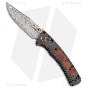 """Benchmade Gold Class Mini Crooked River AXIS Lock Knife (3.4"""" Damascus)15085-201"""